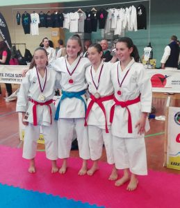 Formazione Sporting Club Latisana: un bronzo all'International karate di Postojna con Maila Casasola